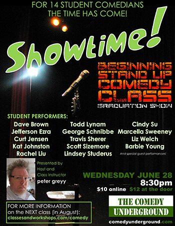 Showtime! - Beginning Standup Comedy Class Graduation Show
